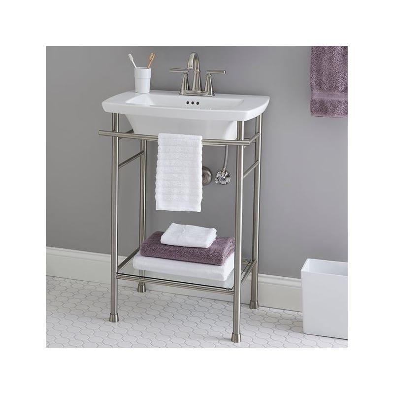 American Standard 0445 499 In 2020 Console Sink White Bathroom