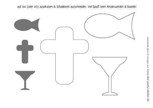 Gratis Download Schablonen Kommunion Taufe Konfirmation Kommunion Schablonen Taufe