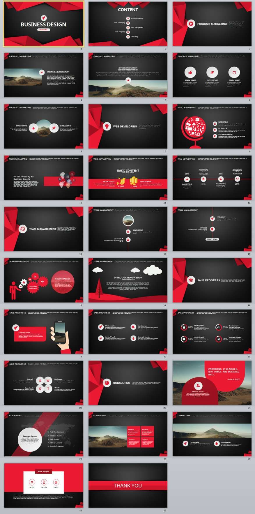 29 red black business plan powerpoint templates business planning 29 red black business plan powerpoint templates toneelgroepblik Images