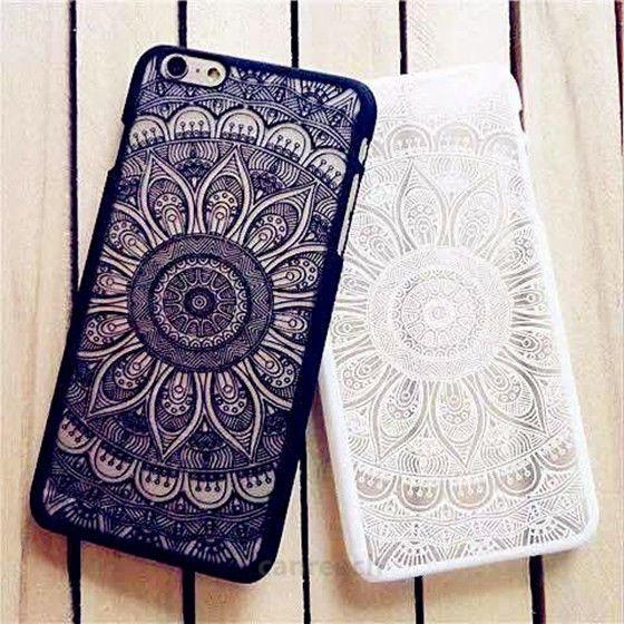 separation shoes 8196c eba7e Rubberized Henna Paisley Mandala Hard Case For iPhone 7 6 6s 6 Plus ...