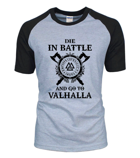 Odin Vikings T Shirt Men Scandinavian Runes Valhalla Tshirt Mens 2018 Summer
