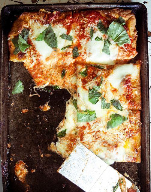 Sicilian squares at Difara's Pizza, Brooklyn. #PizzaWeek