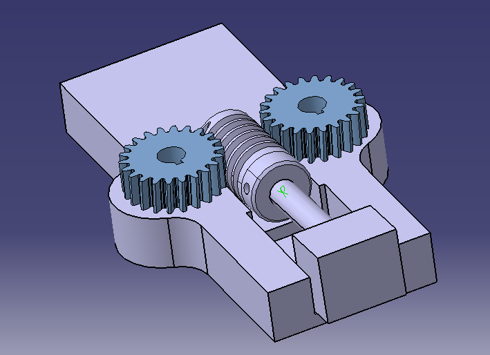 How to make a connection with two worm gears on Catia v5 - GrabCAD