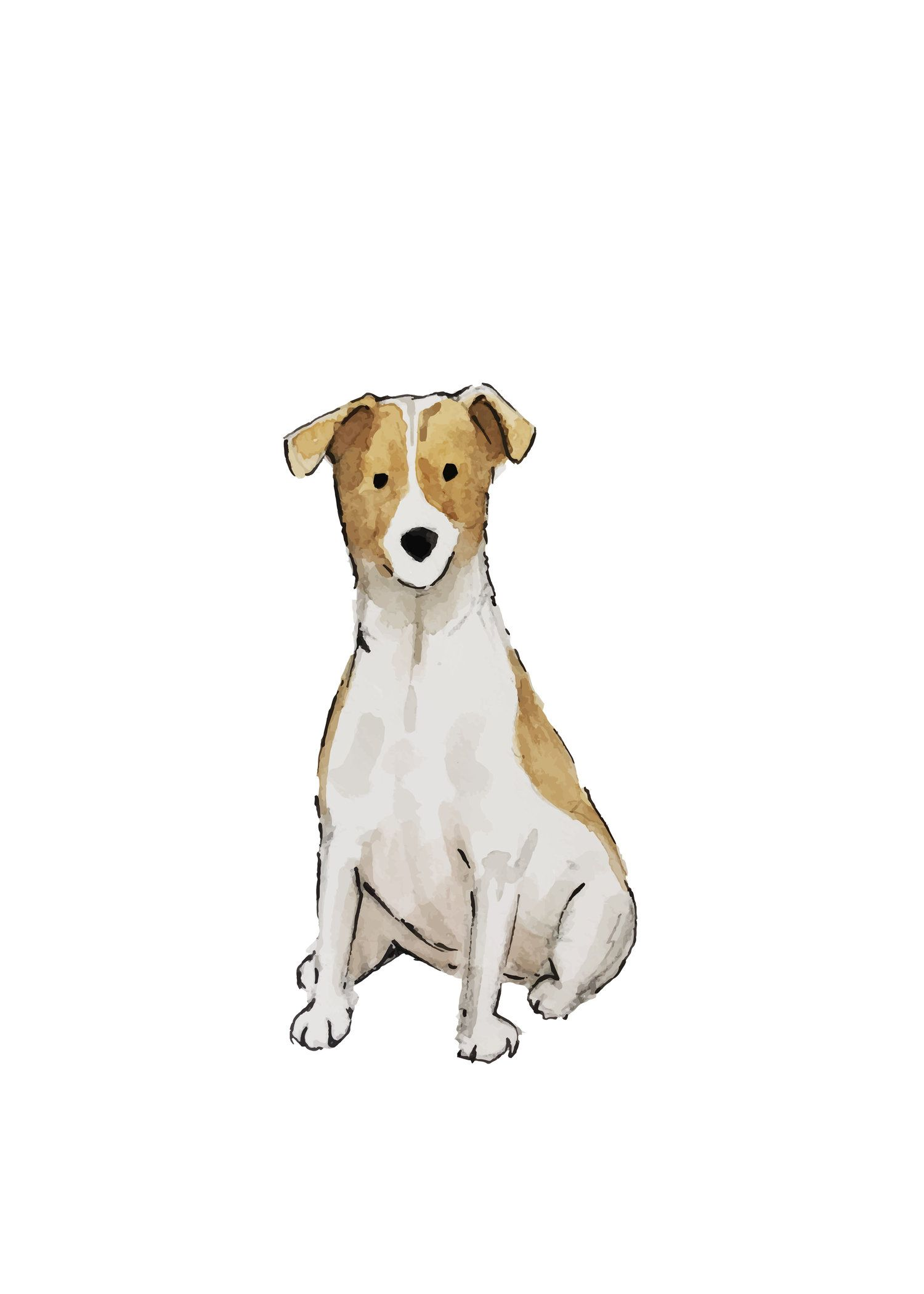 Jack Russell Terrier 5x7.jpg (With images) Ilustration
