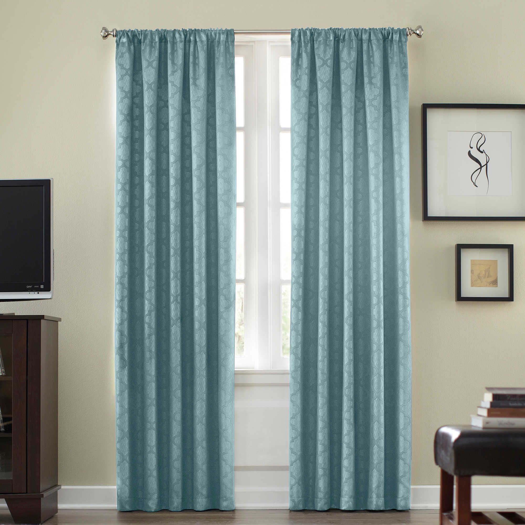Athena Rod Pocket Blackout Window Curtain Panel | Trailer Remodel ...