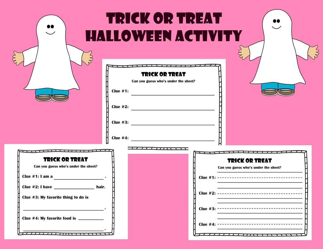 Halloween Activity Trick Or Treat Can You Guess Who S