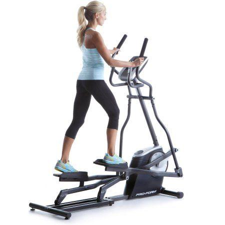 Proform easy strider elliptical machine with workout fan gray