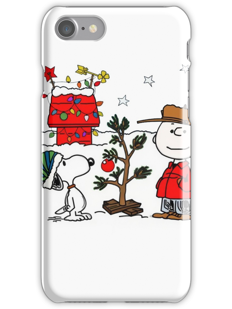 Christmas Snoopy And Charlie Brown iphone case