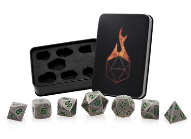 Set Of 7 Polyhedral Metal Dice Aged Mithral Norse Foundry Rpg Pathfinder Dwarven Bo Ta Ny Shop Also contest for free dice from norse foundry. www bo ta ny shop