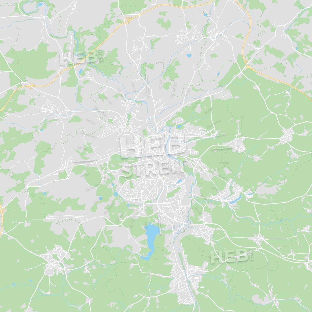 Hof Germany Printable Street Map Streit