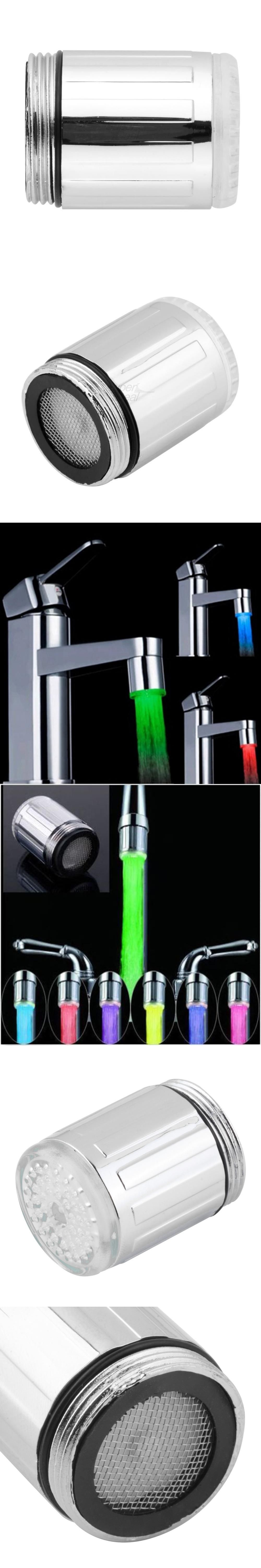 1pc Water Faucet Light LED 7 Colors Changing Glow Shower Stream Tap ...