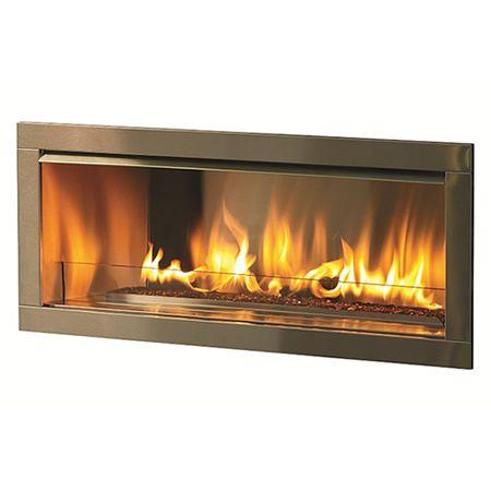 Firegear Outdoor Linear Fireplace With 2 Faceplate Propane