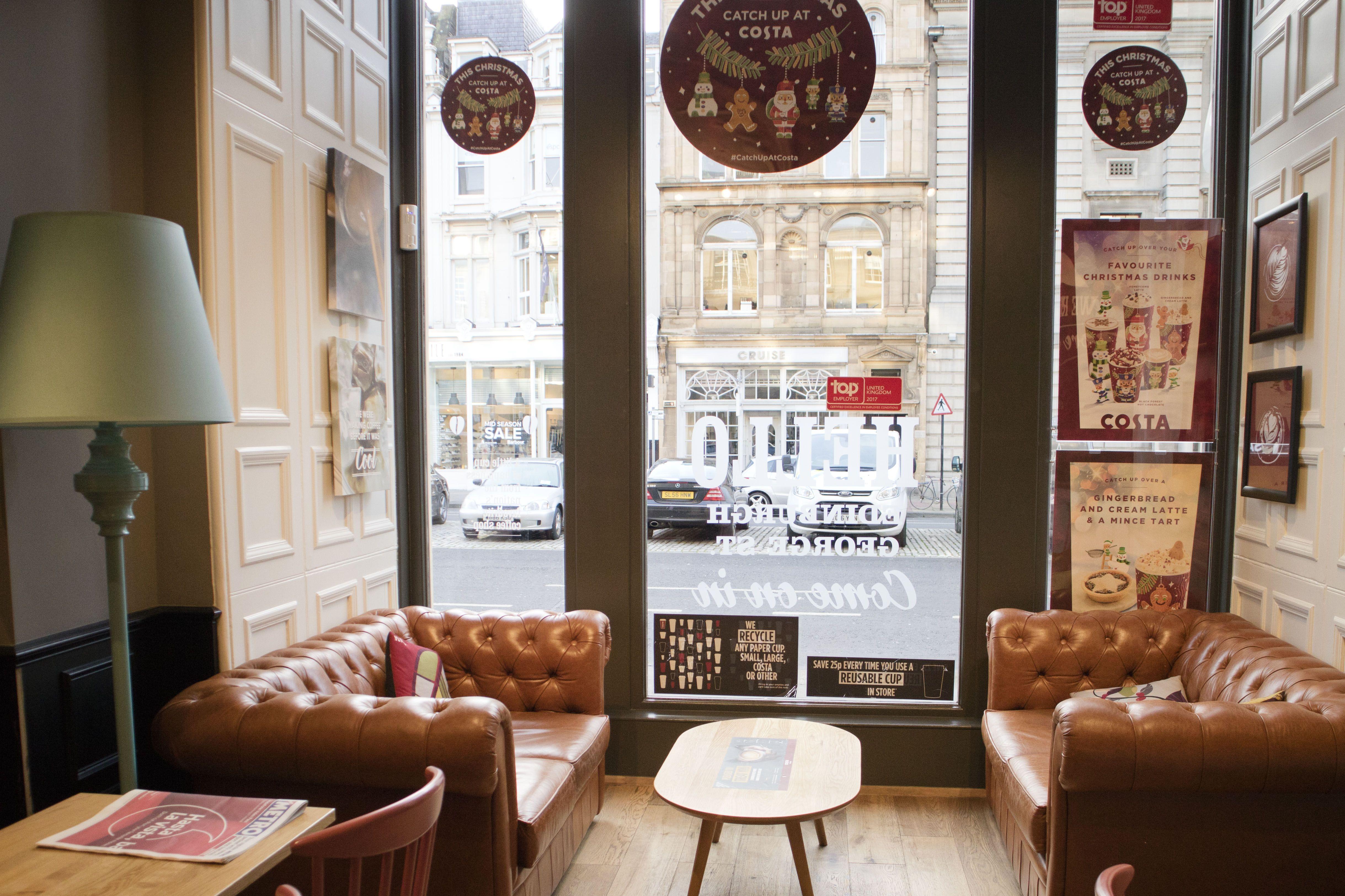 Chesterfield Sofas Edinburgh George Street Costa Coffee By