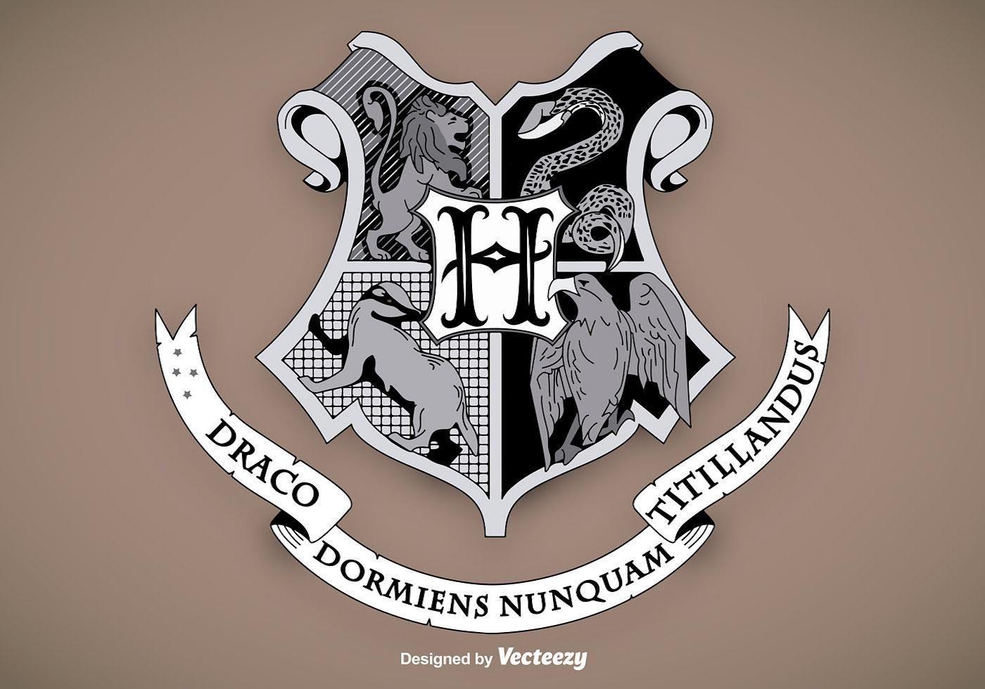 Hogwarts School Shield Vector Escudo de hogwarts