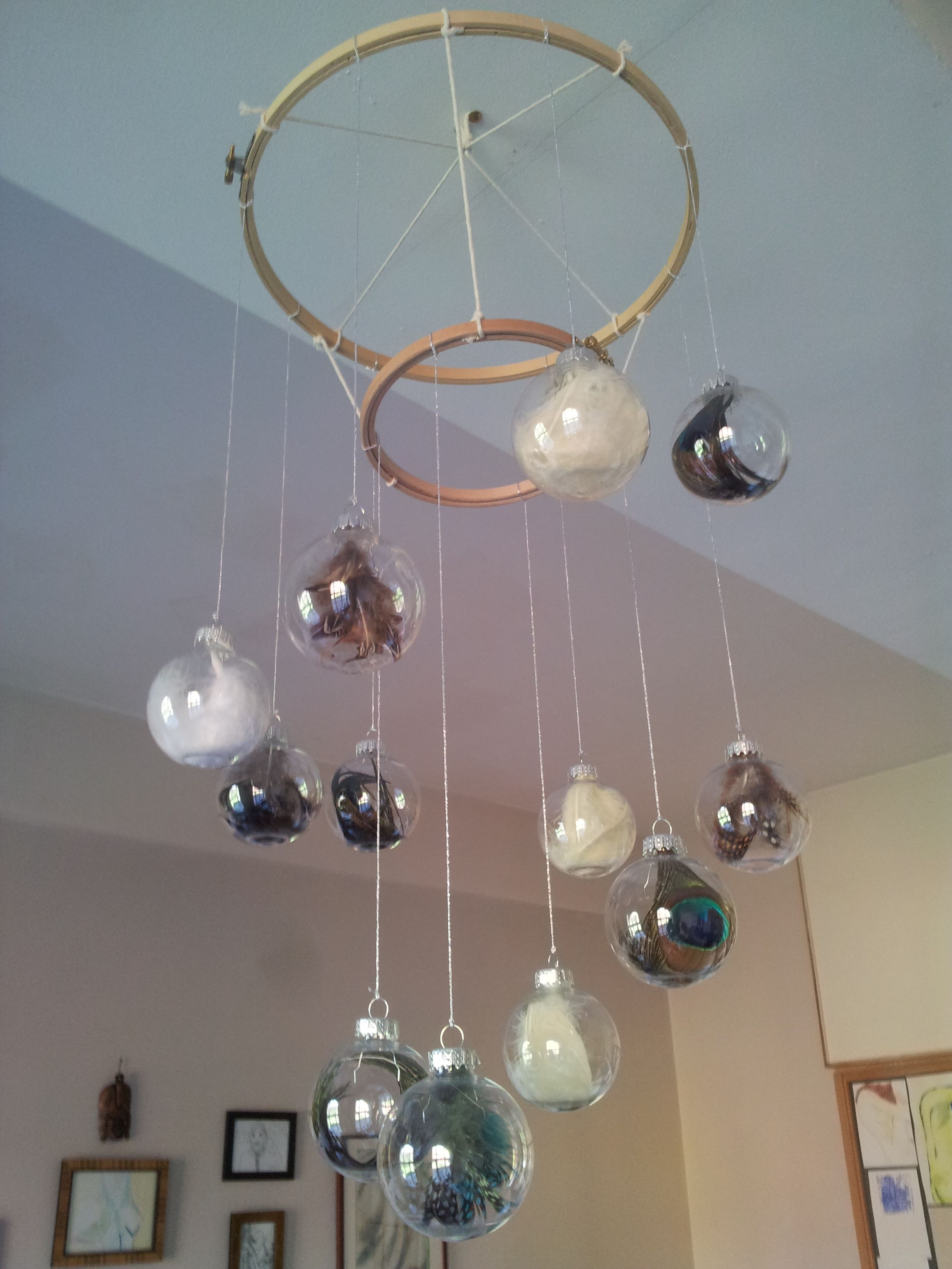 Feather bauble chandelier 2014