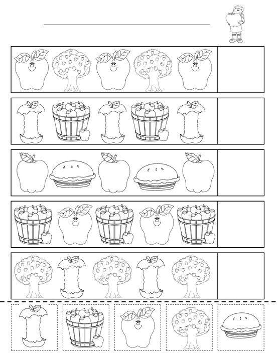 Apple Patterning Sheet Apples Pinterest Apples Math And