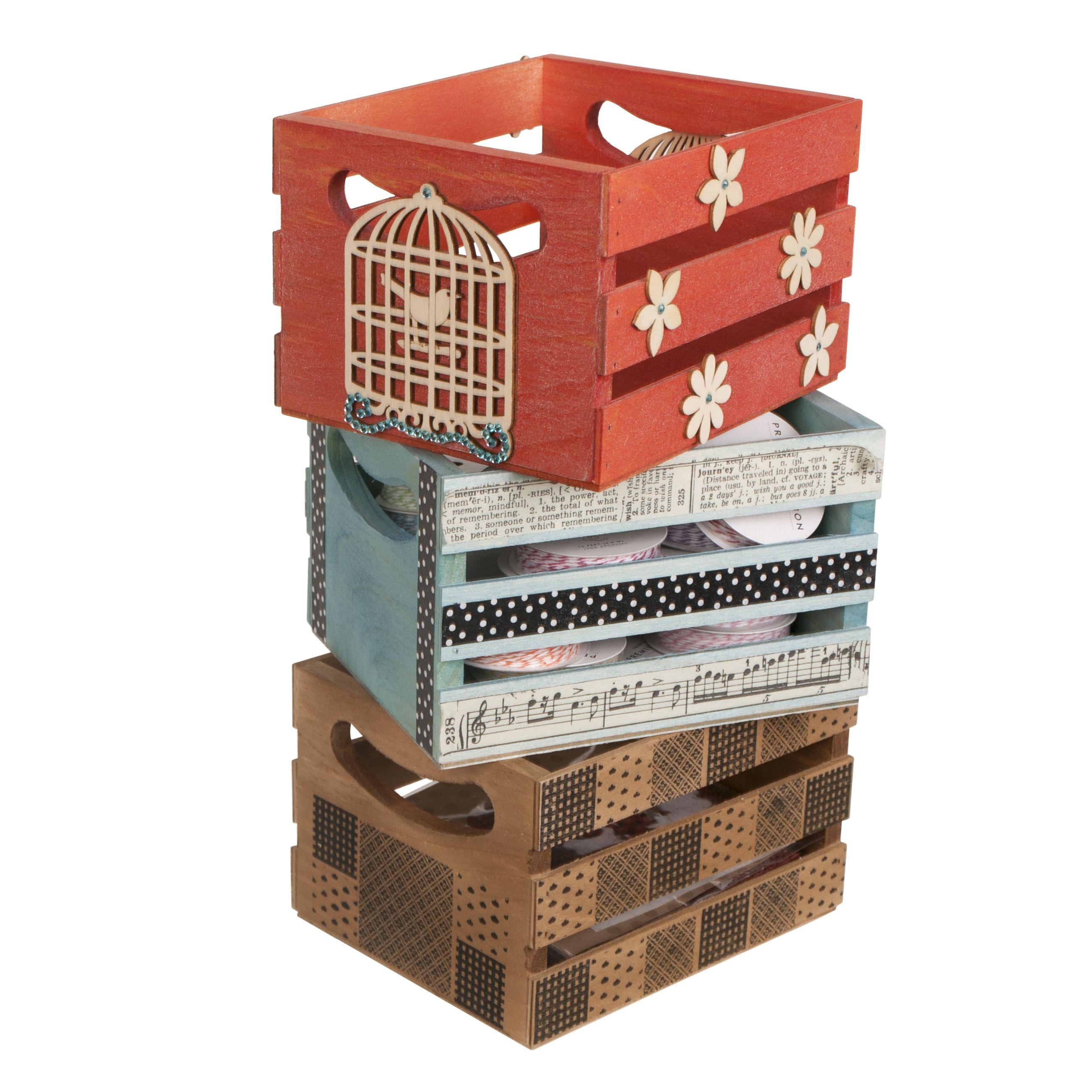 Mini Storage Crates Crate Storage Mini Crates Diy Wooden Crate