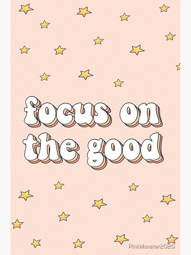 focus on the good quote Sticker by PinkMonster2020