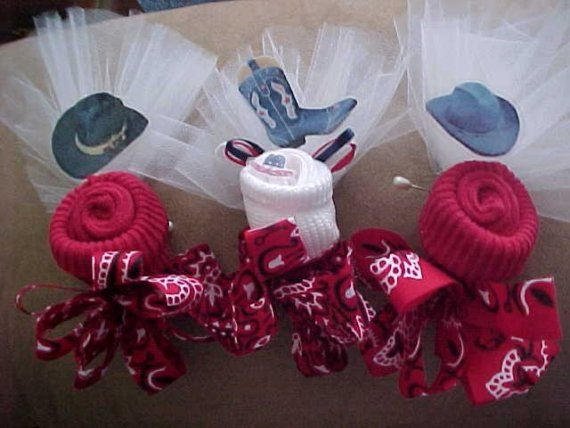 Fun Idea Western Baby Shower Corsages Different Colors Would