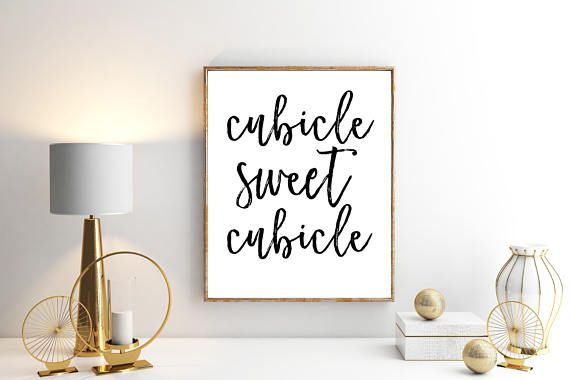 Cubicle Sweet Cubicle Office Printable Sign, Work Wall Decor Print ...