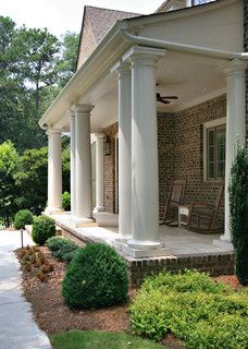 Front Porch 10 Foot Deep Porch 16 In Diameter Columns House With Porch Traditional Porch Porch Design