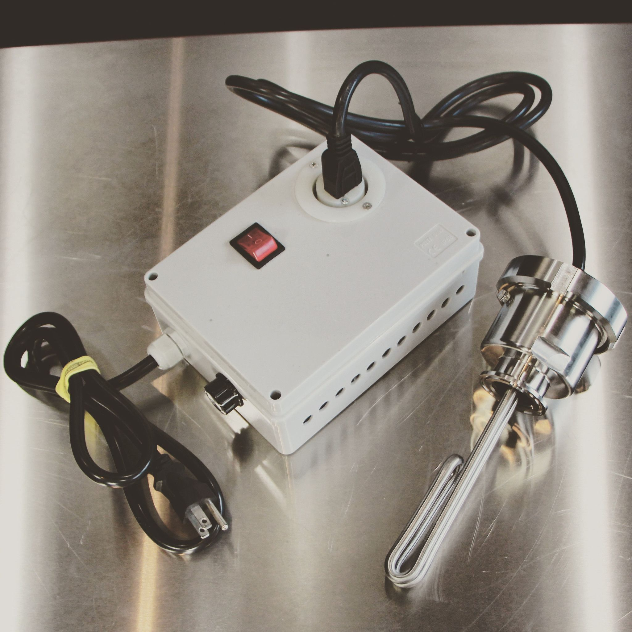 120V Controller and Element for Stainless Stills and Brew System in