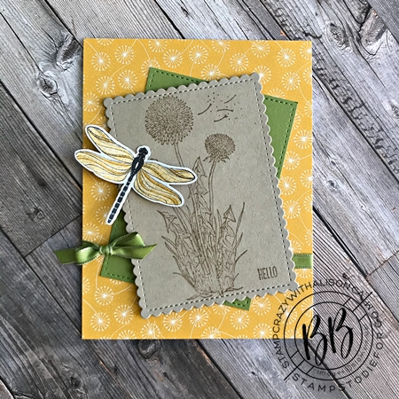 Sunday Sketch Card - Garden Wishes Stamp Set by St