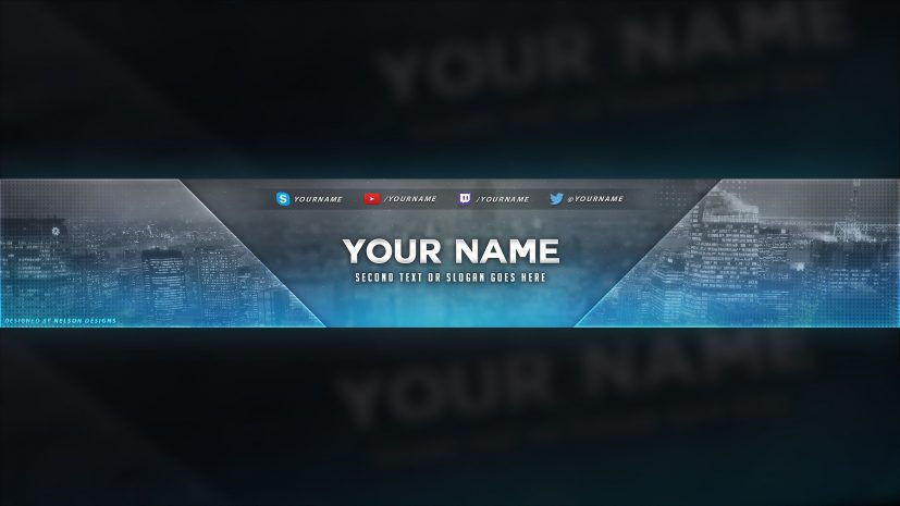 City Themed Youtube Banner Template Free Download Psd