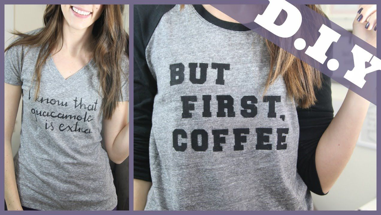 DIY How to Make Your Own TShirt with Text (Two different