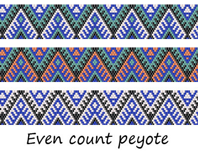 Even Count Peyote Pattern 75   peyote by ColorfulBeadPatterns
