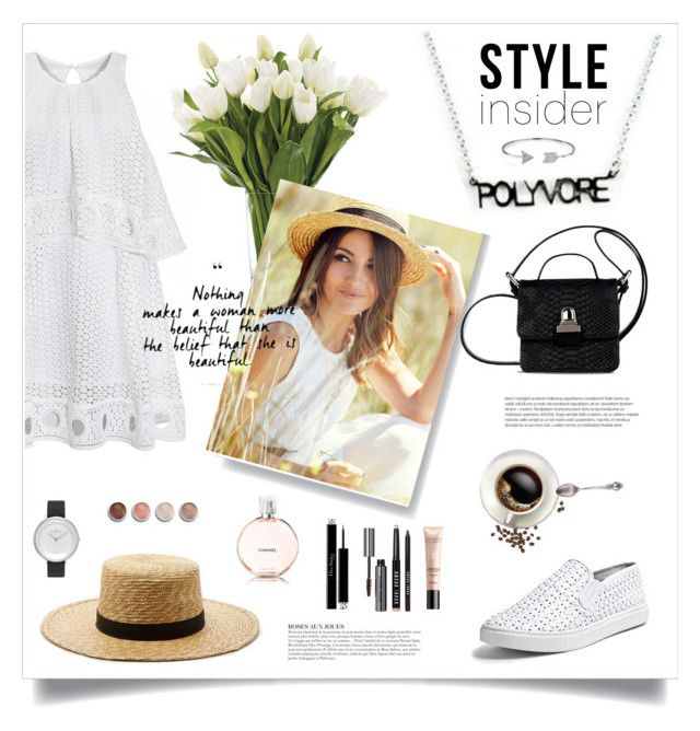"""""""Relaxing in the countryside #ContestEntry #PVStyleInsiderContest"""" by katestyls02 ❤ liked on Polyvore featuring Janessa Leone, NDI, Christian Dior, Bobbi Brown Cosmetics, Chanel, Steve Madden, Bling Jewelry, MM6 Maison Margiela, Skagen and KAROLINA"""