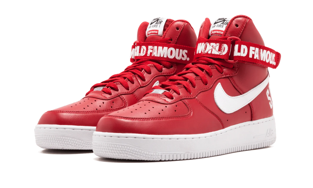 Nike Air Force 1 High Supreme Sp Red 698696 610 2014 In 2020 Air Force 1 High Supreme Shoes Nike Air Force