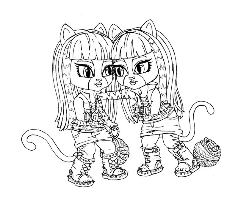Baby Purrsephone Coloring Page | Monster High Coloring Page ...