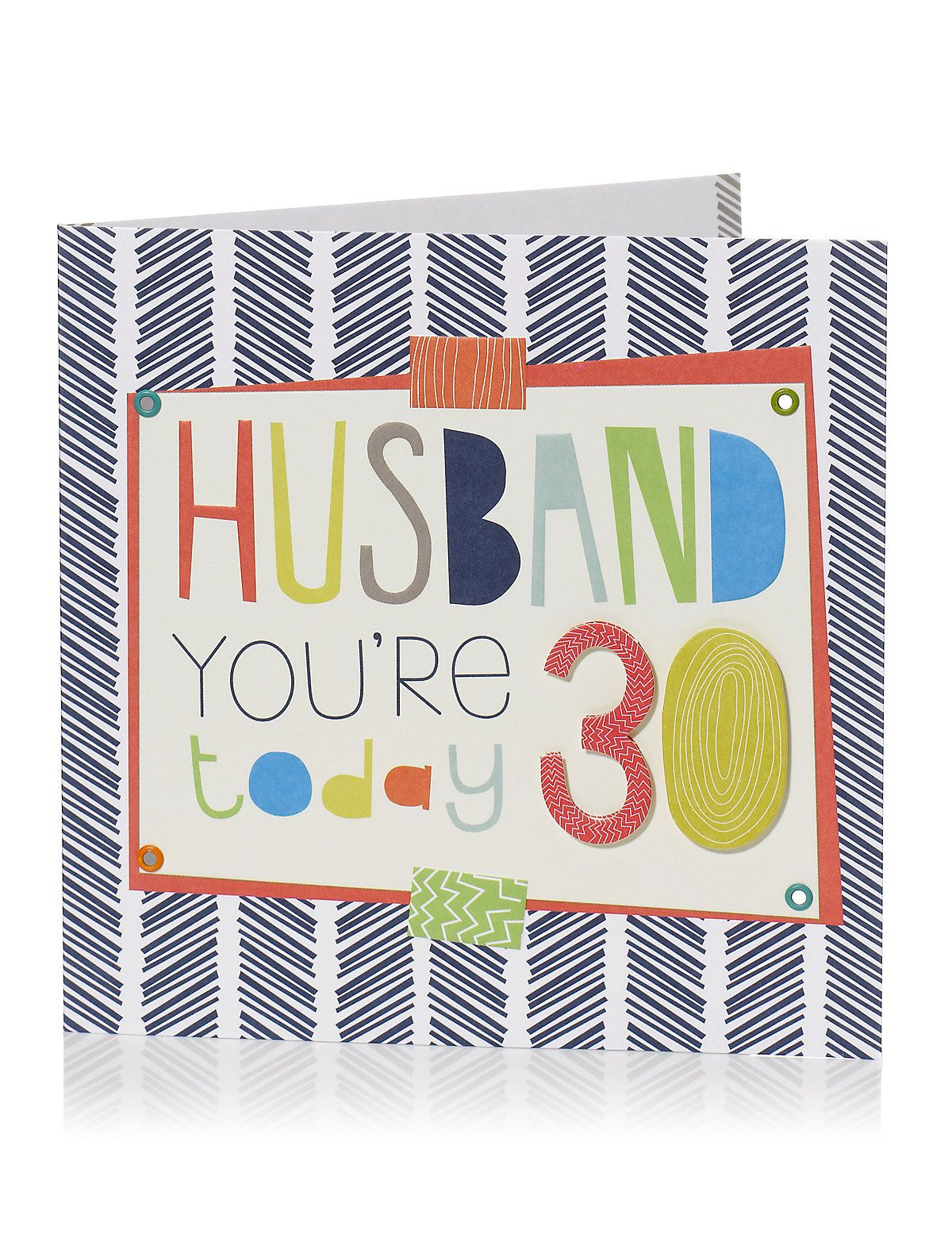 Bold Text Age 30 Husband Birthday Card M S With Images