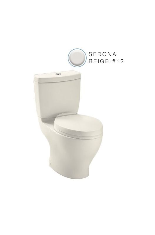 Toto CST412MF Aquia Two Piece Elongated 0.9 GPF ADA Height Toilet ...
