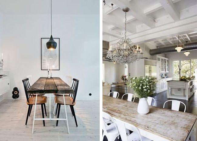 Mesas de comedor estilo industrial estilo escandinavo - Comedores estilo vintage ...