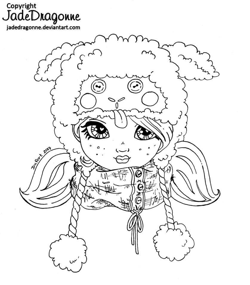 Little Lamb Hat Lineart By Jadedragonne On Deviantart Digitale Stempels Digi Stempels Kleurplaten