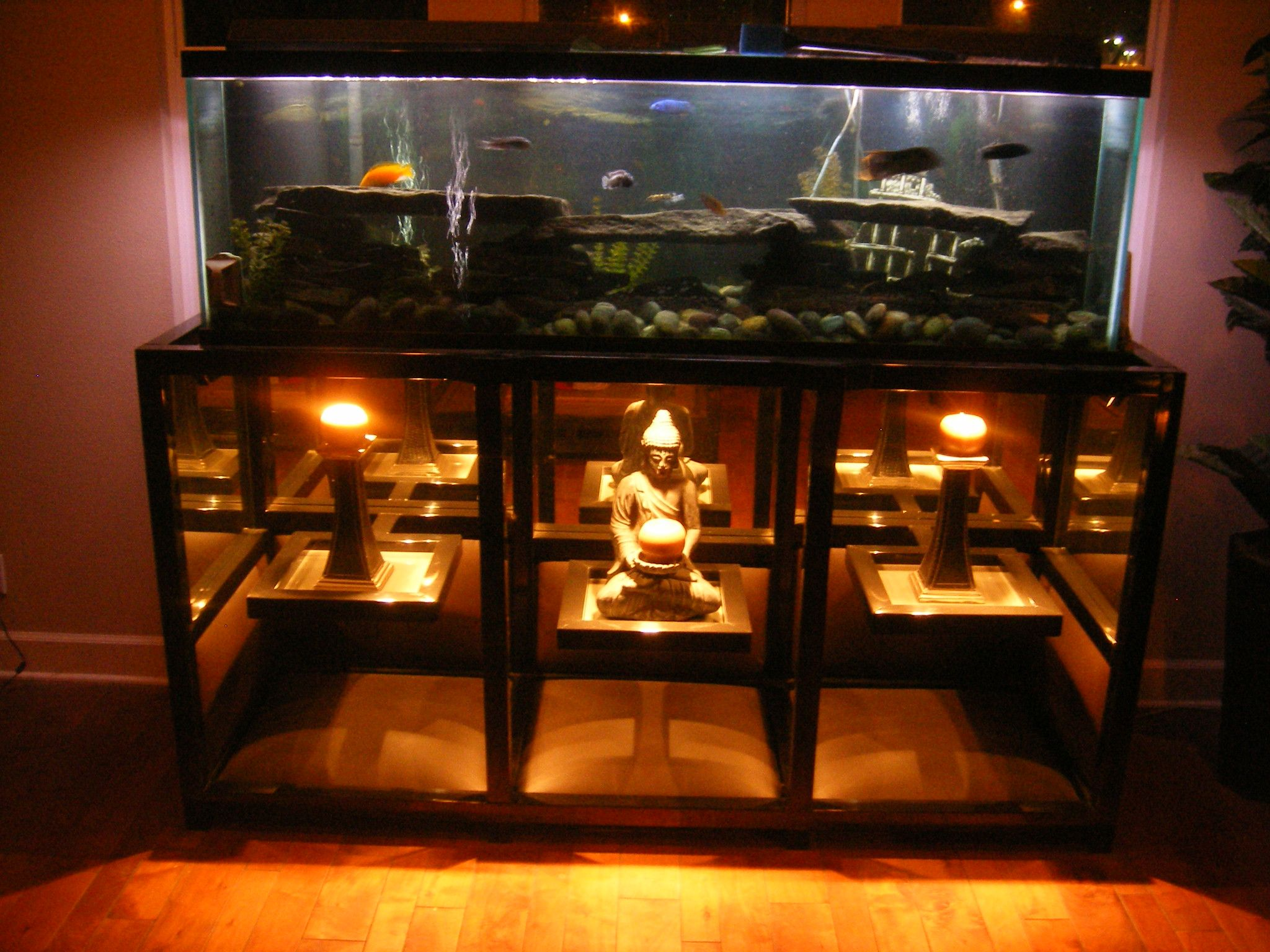 Fish tank tv stand - Custom Metal Wood Fabric Glass Tables 2 Square Tubing Tig Welded Aquarium Standcustom