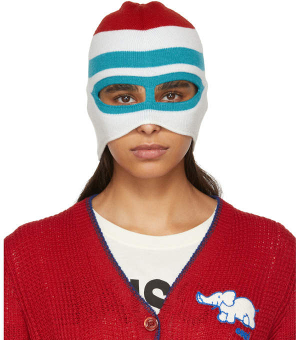 b43d750aa6f Gucci White and Blue Peruth Balaclava Gucci Designer