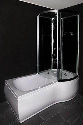 badewanne 150 x 75/90 x 42 cm duschzone in den auswahlfeldern, Hause ideen