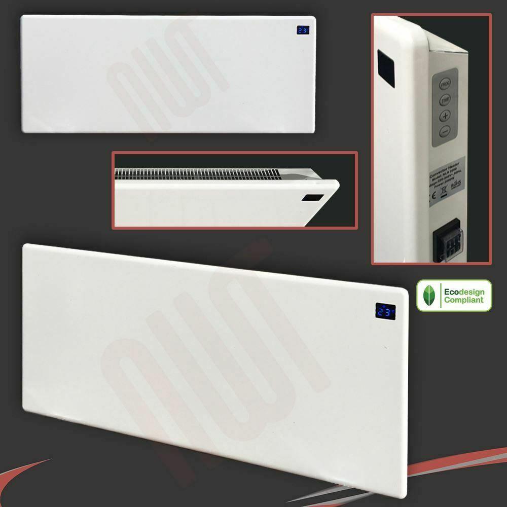 2000w Nova Live R White Slimline Electric Panel Heater 940mm W X 400mm H Ventilation Chauffage