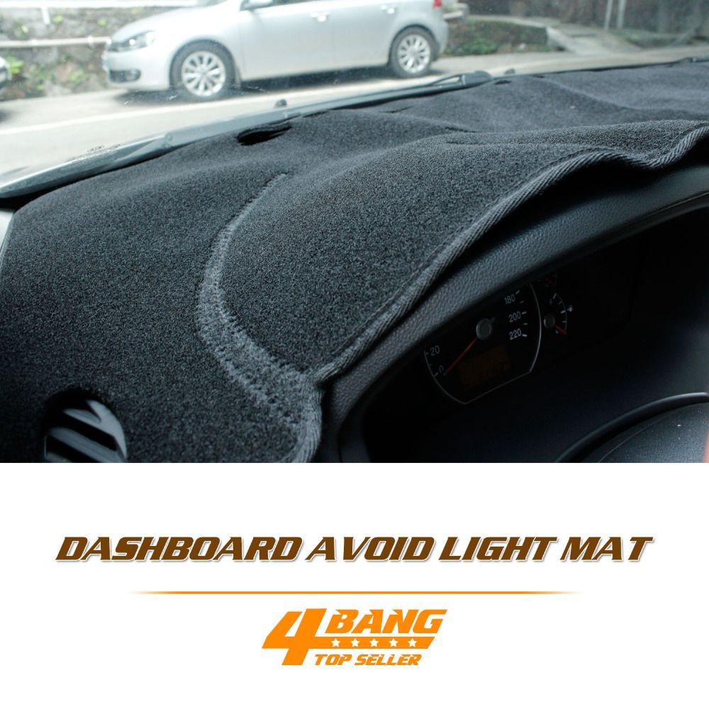 Car Dashboard Avoid Light Pad Mat Protector Cover Instrument Black