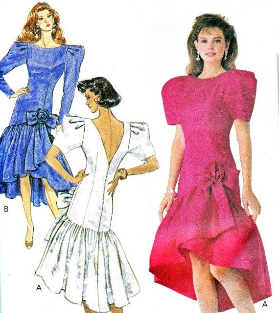 1980s Evening Dress Sewing Patterns
