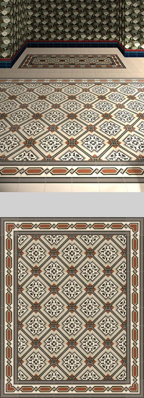 Verlegebeispiel Sfvsfv Materials Floor Wall - Jugendstil fliesen boden