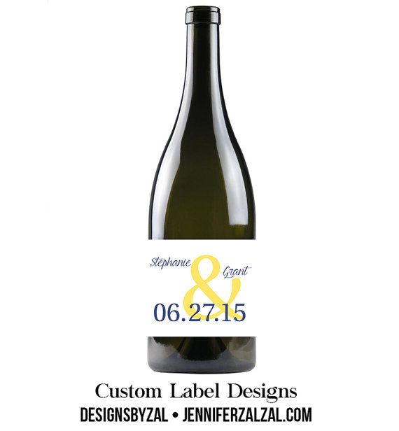 Custom Wine Labels Set of 6 Personalized Labels by DesignsByZal