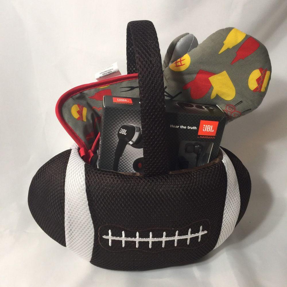 Football Gift Basket Griller J22 Headphones Coach For Him