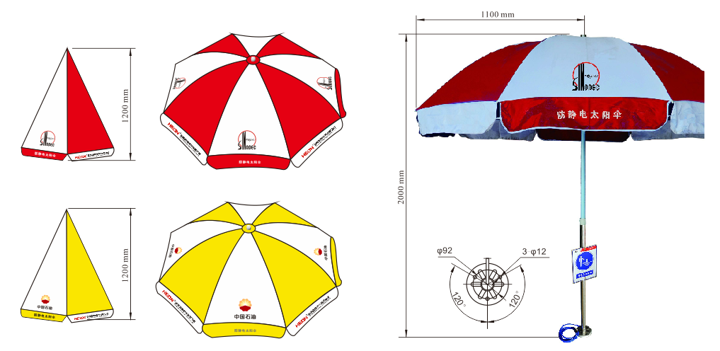 HLBJ01-F(F1) Explosion-proof Static Discharger(Sun Umbrella) (ⅡC) - helon