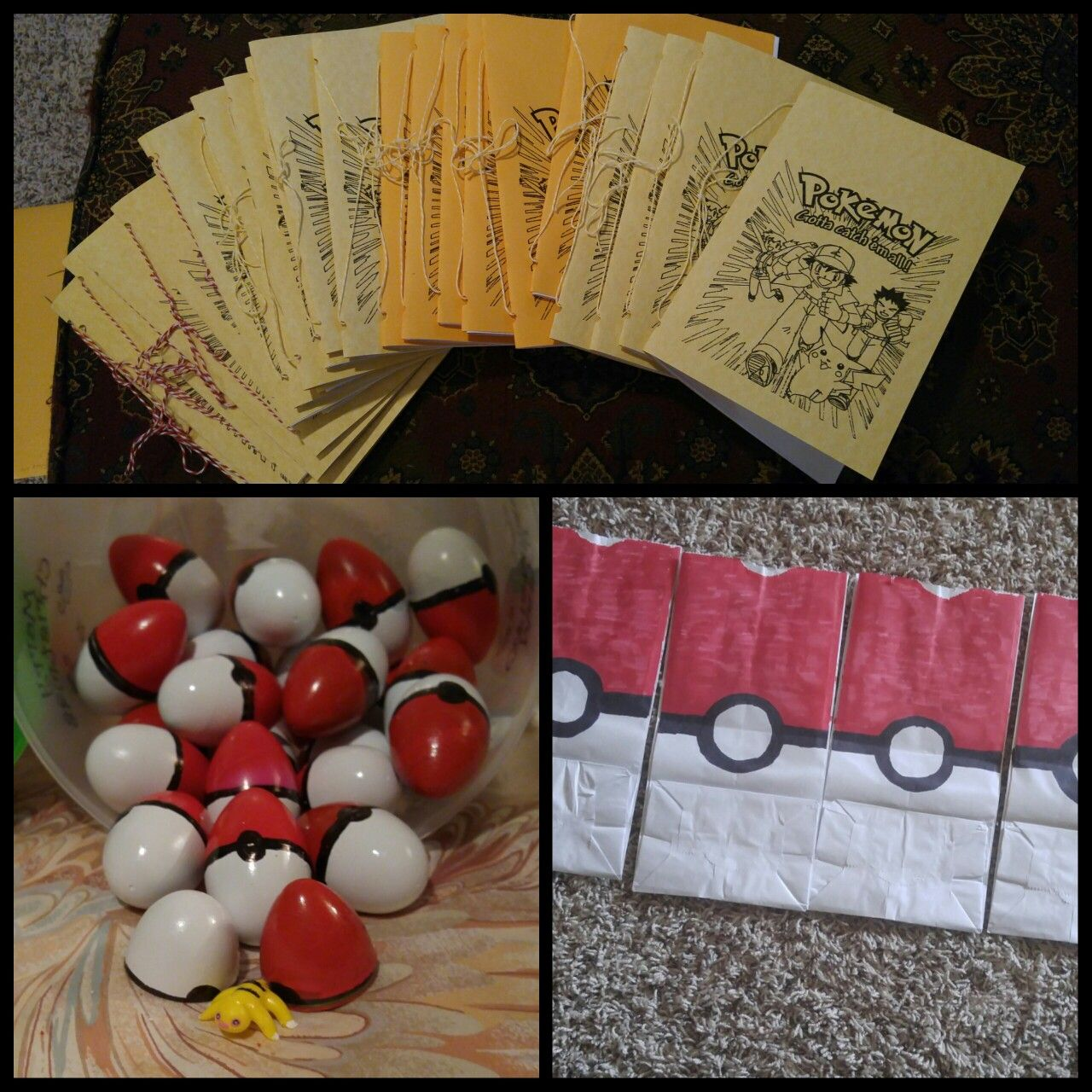 Diy pokemon party favors a handmade coloring book and