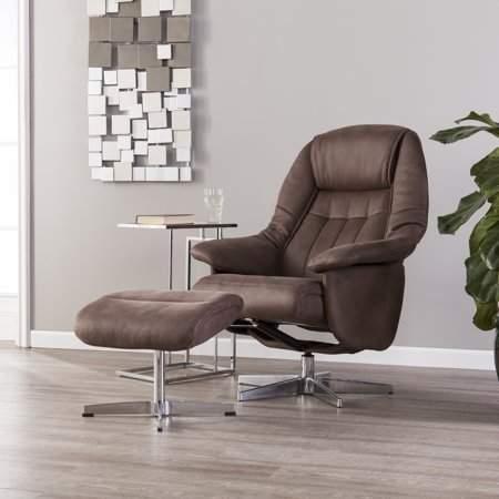 Sensational Southern Enterprises Bazinga Reclining Chair Ottoman Mocha Unemploymentrelief Wooden Chair Designs For Living Room Unemploymentrelieforg