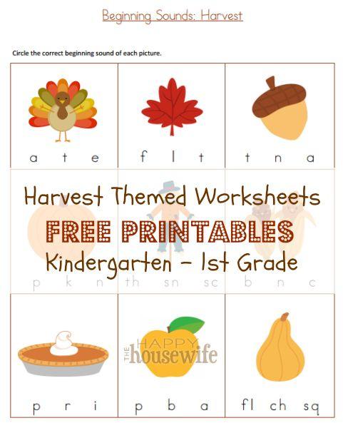Free Number 3 Worksheet (Harvest Time | Harvest time, Math ...